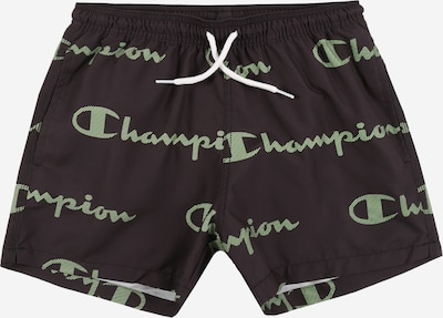 Champion Authentic Athletic Apparel Shorts de bain en noir, Vue avec produit