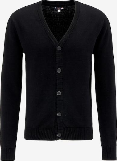 MO Gebreid vest in de kleur Zwart, Productweergave