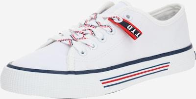 TOM TAILOR DENIM Sneaker in dunkelblau / rot / weiß, Produktansicht