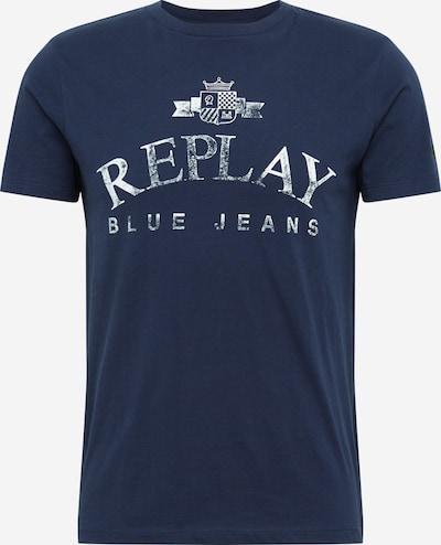 REPLAY T-Shirt in navy / weiß, Produktansicht