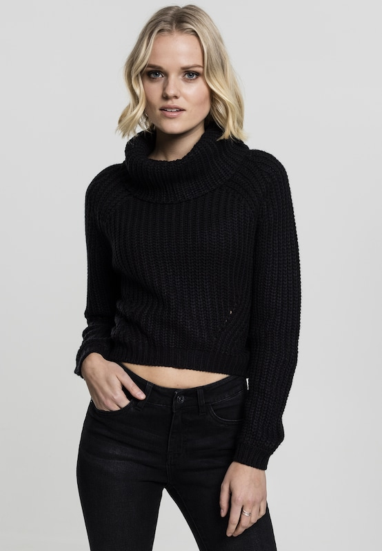 Urban Classics Sweater mit Turtleneck in schwarz, Modelansicht