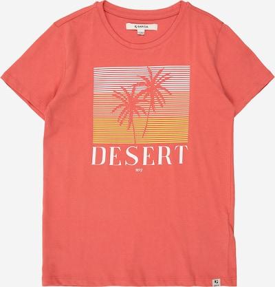 GARCIA T-shirt in gelb / koralle / weiß, Produktansicht