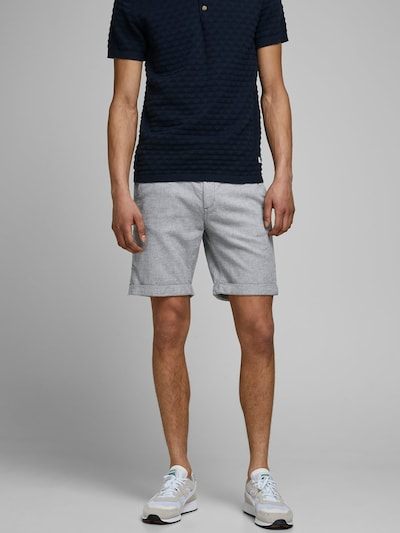 JACK & JONES Chinoshorts in hellgrau, Modelansicht
