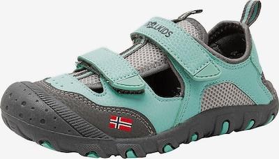 TROLLKIDS Sandale in dunkelgrau / pastellgrün, Produktansicht
