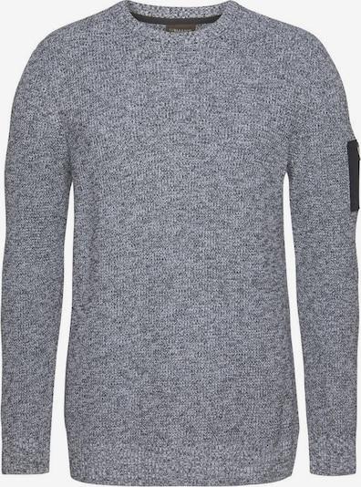 Man's World Pullover in schwarz / weiß, Produktansicht