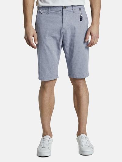 TOM TAILOR Chino in de kleur Duifblauw / Wit, Modelweergave