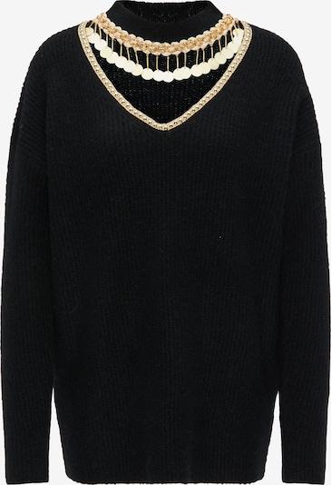 faina Pullover in gold / schwarz, Produktansicht