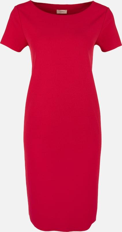 TRIANGLE Lässiges Kleid mit offenen Kanten in rot  Neu in diesem Quartal