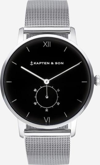 Ceas analogic 'Heritage' Kapten & Son pe negru / argintiu, Vizualizare produs