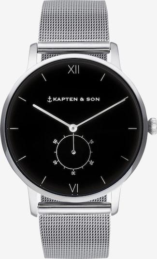 Kapten & Son Armbanduhr 'Heritage Silver' in schwarz / silber, Produktansicht