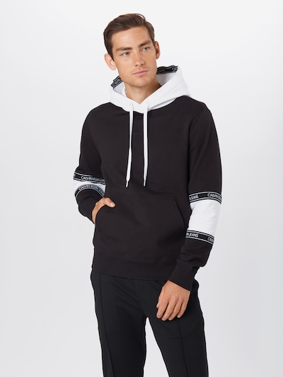 Calvin Klein Jeans Bluzka sportowa w kolorze czarny / białym: Widok z przodu