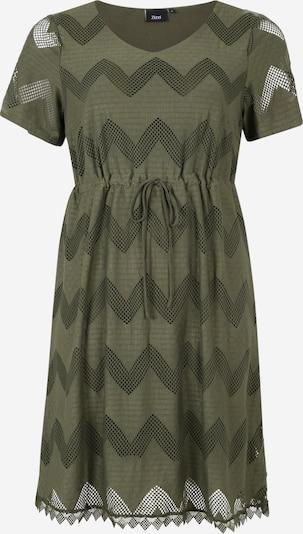 Zizzi Kleid 'MALEXANDRA' in oliv, Produktansicht