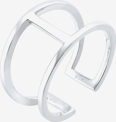 ELLI Ring 'Geo' in silber, Produktansicht