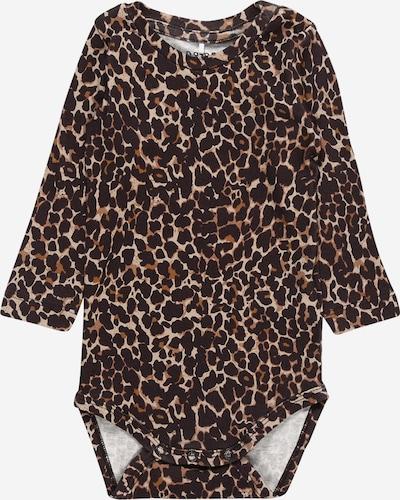 NAME IT Pijama entero/body 'KALA' en azul castaño / marrón claro / marrón oscuro, Vista del producto