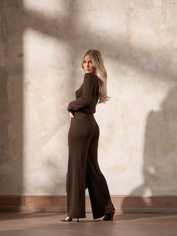 Brown Knitted Look by Liz Kaeber