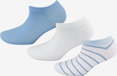 TOM TAILOR Füßlinge in rauchblau / hellblau / weiß, Produktansicht