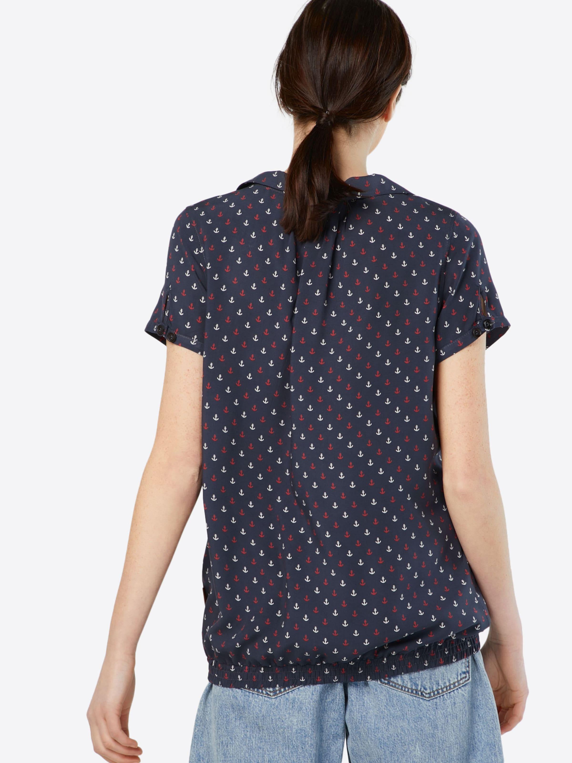 Shirt Naketano Weiß BlauRot 'rumvögelchen' In 0X8nPwOk
