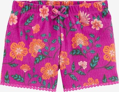 Carter's Shorts in beige / cognac / smaragd / jade / neonpink, Produktansicht
