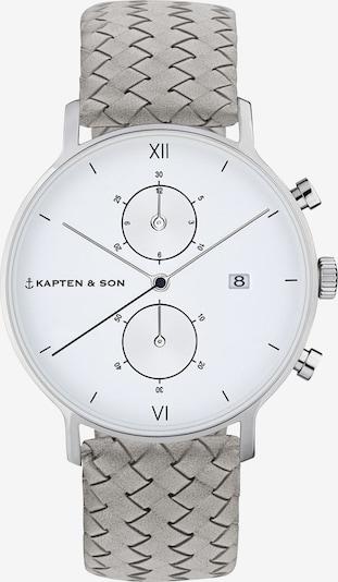 Kapten & Son Analogové hodinky 'Chrono Woven' - šedá, Produkt