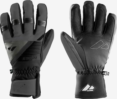 Zanier Handschuhe in basaltgrau / schwarzmeliert, Produktansicht