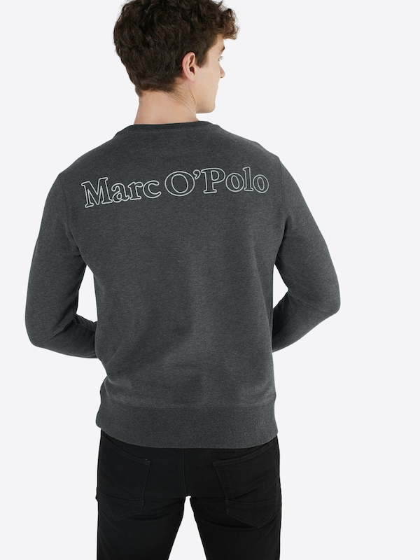 Marc O'Polo Sweatshirt 'Crew neck, flatlock and rib details, art 65 CO 35'
