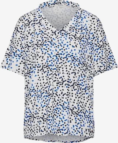 GARCIA Shirt 'ladies shirt ss' in blau / schwarz / offwhite, Produktansicht