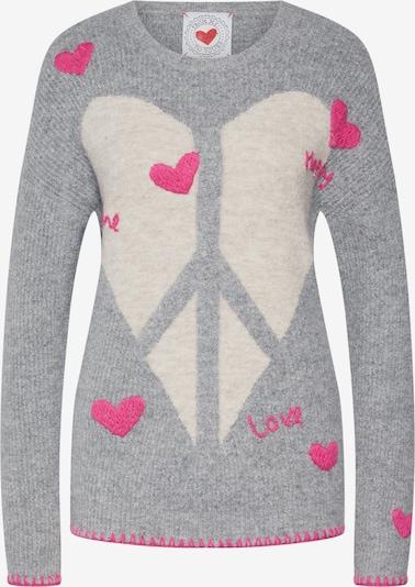 Frogbox Svetr 'Heart peace pullover' - šedá, Produkt
