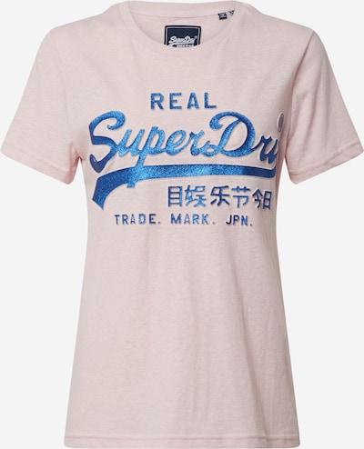 Superdry Shirt 'GLITTER EMBOSS' in blau / rosa, Produktansicht