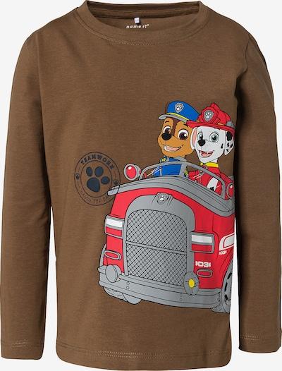 NAME IT Shirt 'Paw Patrol' in braun / mischfarben, Produktansicht