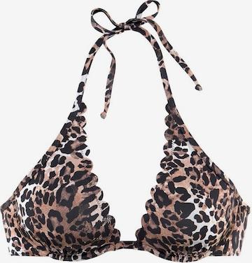 LASCANA Bikinitop 'Lexa' in Braun