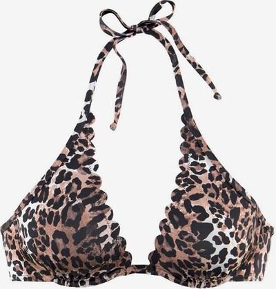 LASCANA Hauts de bikini 'Lexa' en beige / noisette / brun foncé, Vue avec produit