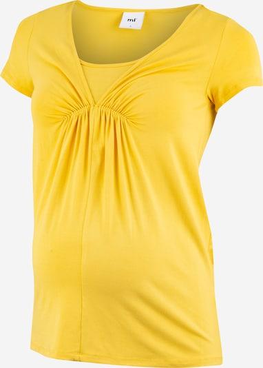 MAMALICIOUS Koszulka 'MLADDIE NELL' w kolorze żółtym: Widok z przodu