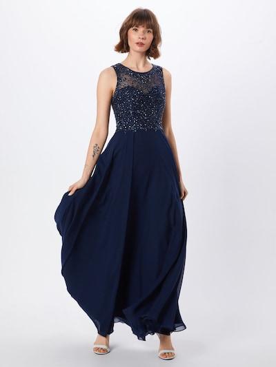 Unique Kleid in nachtblau, Modelansicht