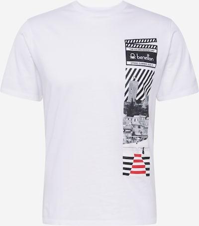 UNITED COLORS OF BENETTON Särk punane / must / valge: Eestvaade