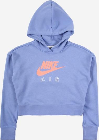 Bluză de molton Nike Sportswear pe albastru porumbel / coral / alb, Vizualizare produs
