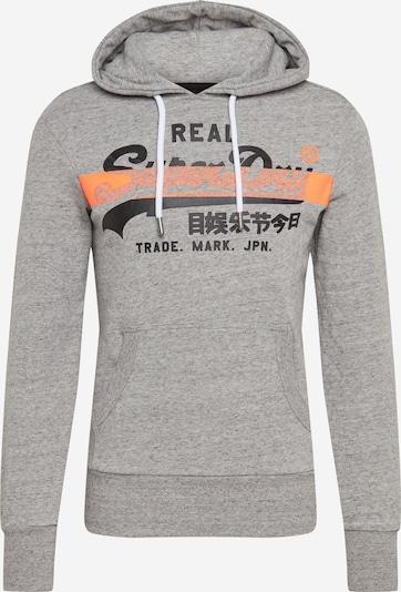 Superdry Pullover in graumeliert / orange / schwarz, Produktansicht