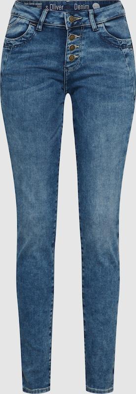 S.Oliver rot LABEL Jeans 'SHAPE' in Blau denim  Großer Rabatt