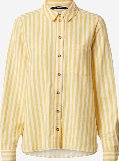 VERO MODA Bluse 'VMHELENMILO' in gelb / weiß, Produktansicht