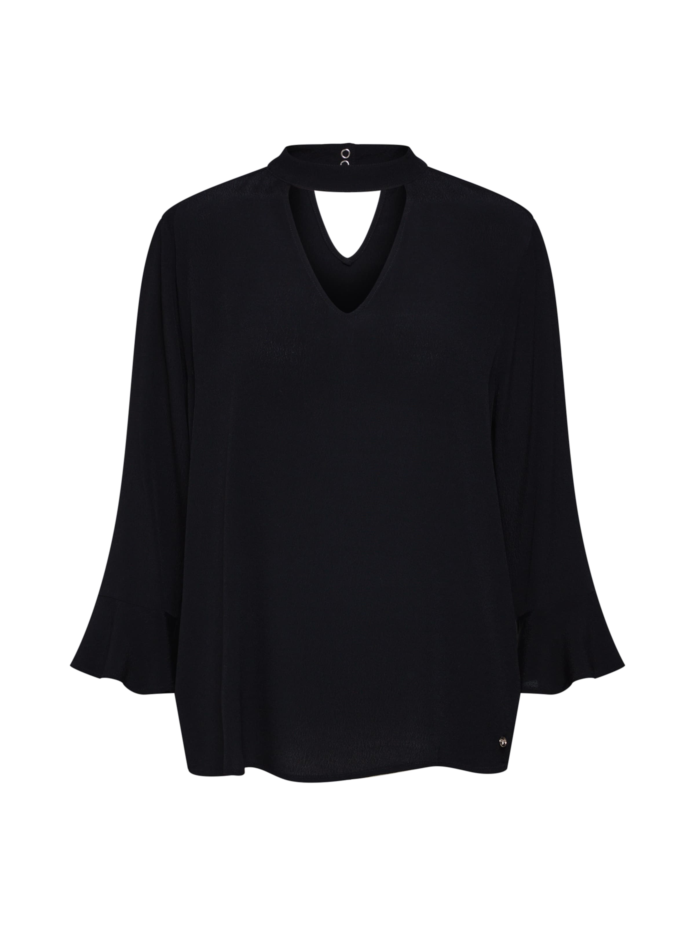 'choker Tom Denim Tailor In Bluse Neck Tunic' Schwarz Pn0wOk