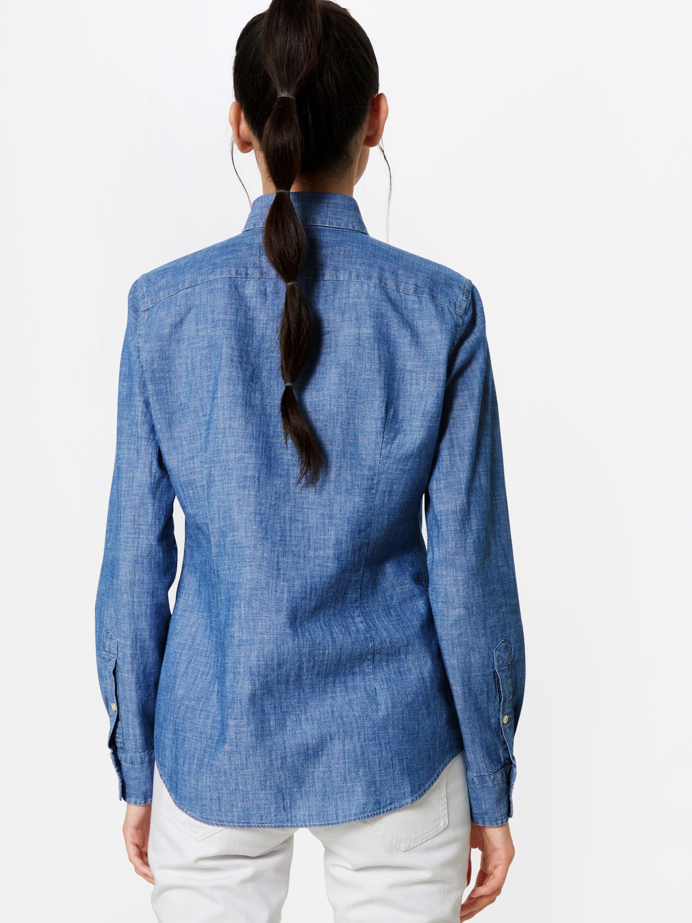 Lauren Ralph En Chemisier 'chambray' Bleu Polo LjUGqSMzVp