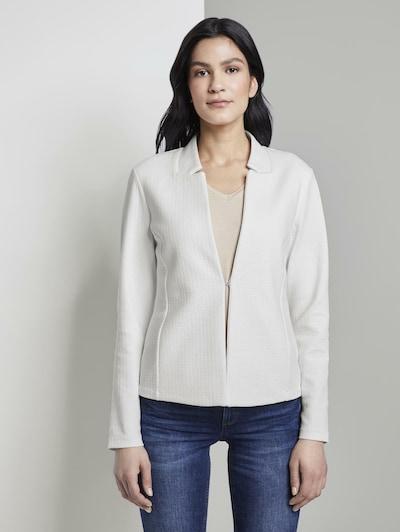 TOM TAILOR Blazer 'Ottoman' in weiß, Modelansicht