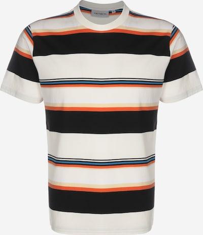 Carhartt WIP T-Shirt 'Sunder' in blau / hellgelb / orange / schwarz / weiß, Produktansicht