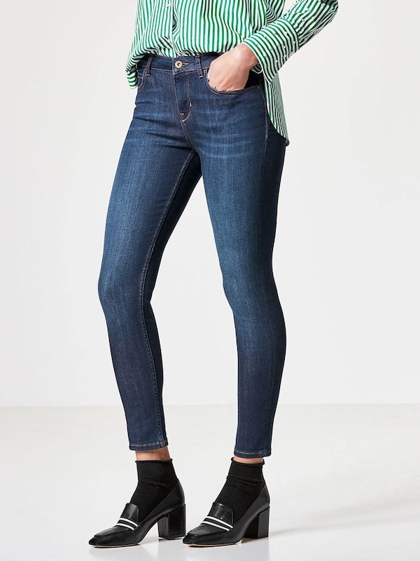 HALLHUBER Skinny Jeans mit dunkelblauer Waschung