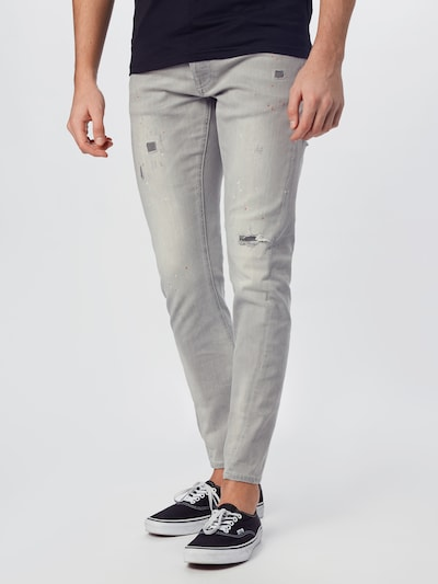 tigha Jeans 'Billy the kid 9975 repaired' in grey denim, Modelansicht