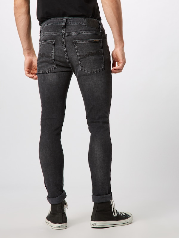Nudie Jeans Co Jeans 'Tight Terry' in black denim: Rückansicht