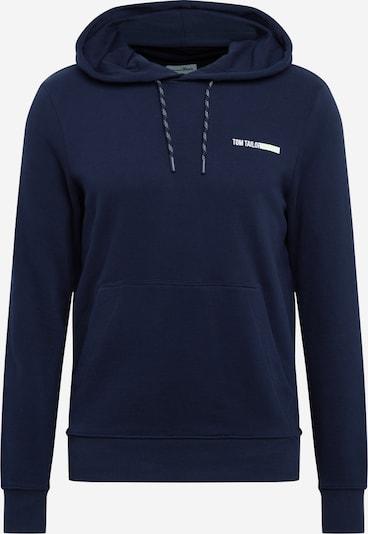 TOM TAILOR DENIM Sweatshirt in dunkelblau / weiß, Produktansicht