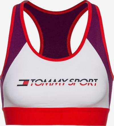 Tommy Sport Bustier in aubergine / weiß, Produktansicht