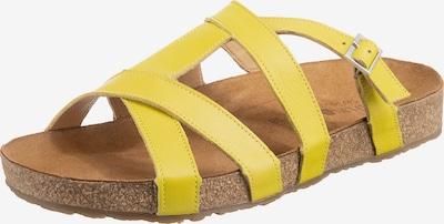HAFLINGER Pantolette 'Sarah' in gelb, Produktansicht