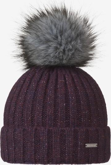 STÖHR Mütze in grau / beere, Produktansicht