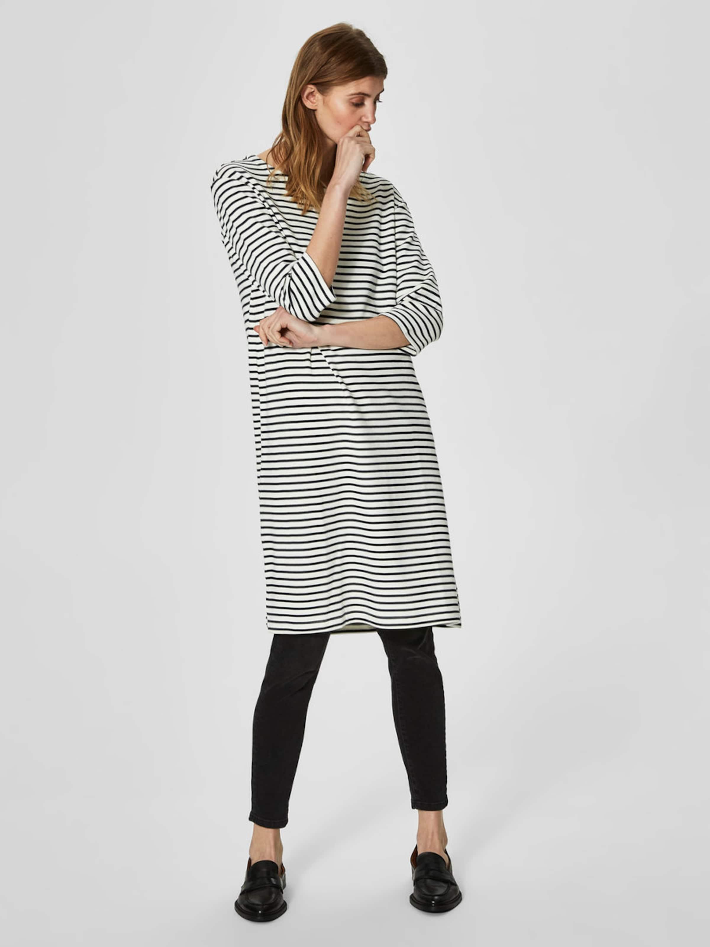 SELECTED FEMME Gestreiftes Kleid mit kurzen Ärmeln Mit Mastercard Zum Verkauf Auslassstellen Günstiger Preis TdHlL